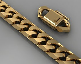 3D printable model Miami cuban link chain bracelet 0141