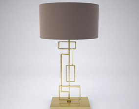 Modern luxurious table lamp - Porta Romana Salperton 3D