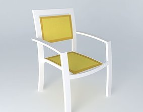 3D model Yellow armchair HAWAI