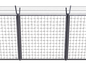 Low Poly Modular Fence 6 3D model