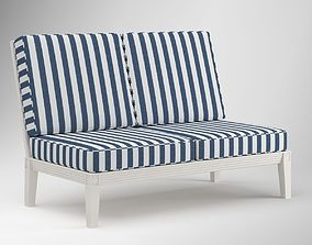 Striped Outdoor Lounge Chair 3D model