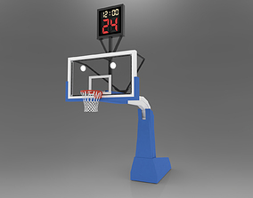 Pro Basketball Hoop and Stanchion 3D asset