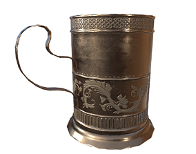 Mug - PBR Game Ready Low-poly 3D model low-poly