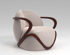 3D model Giorgetti HUG - Armchair
