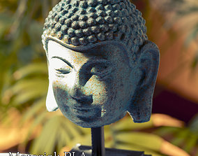 Vintage buddha head with base for 3d print