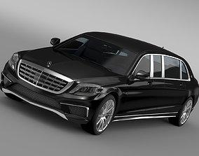 3D AMG Mercedes Maybach Pullman VV222 2015