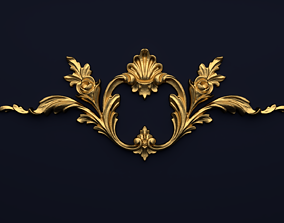 Classic decor ornament v-3D model 34