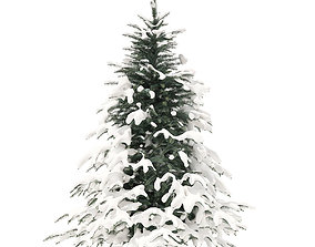 3D model Spruce Tree with Snow 2point3m