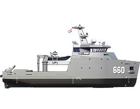 3D model MILITARY MULTI-ROLE AUXILIARY VESSEL 660