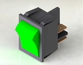 Power switch green 3D