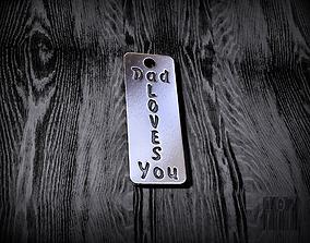 3D printable model pendant dad loves you