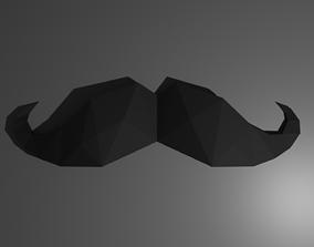 3D printable model diy mustache papercraft template