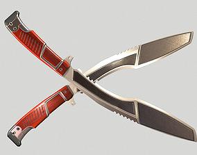 3D asset Silver Kukri Knife