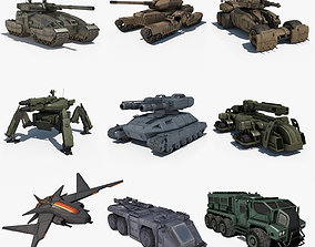 3D model Sci Fi Vehicles Collcetion