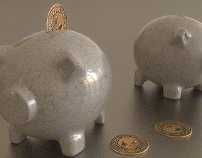 pottery 3D model Piggy bank