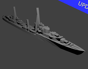 3D print model British Tribal Class Destroyer Warship