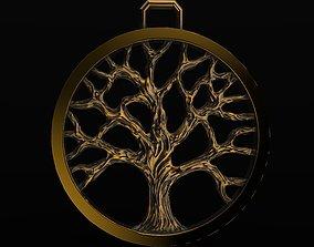 silver Tree Of Life Pendant 3D print model