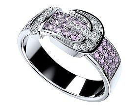 Men And Women Belt Ring 3D CAD Design-O1B03