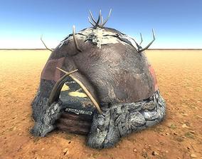 3D asset Boneskin Hut 2