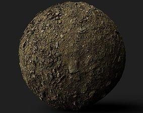 PBR Scanned Stoney Soil 3D model