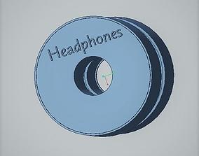 Headphones box 3D print model
