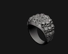 Skull Ring desktop 3D print model