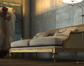 3D model Vintage Country Sofa