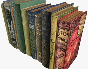 Old Books Type 3 Low Poly 3D model