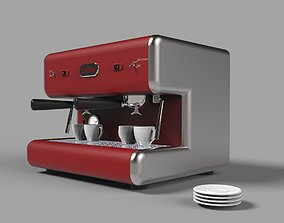 3D model Coffee machine cappuccino