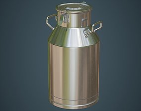 3D model VR / AR ready Milk Can 1A