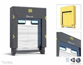 3D asset Loading Dock Low Poly PBR