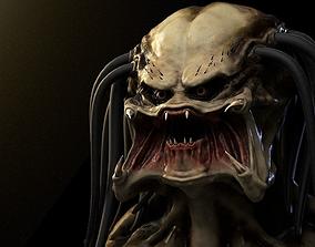 3D Predator head painted High-Poly film