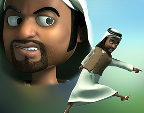 Cartoon arab Middle East 3D model rigged
