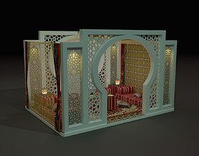arabic cubicle 3mx3m saadu design 3D model
