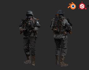 German soldier 3D model