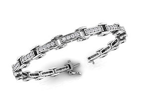 Diamond Bracelet 7-Inch 3D printable model 1