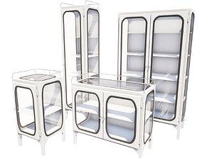 3D model Set of Doctors cabinets