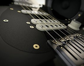 Fender Stratocaster Guitar 3D