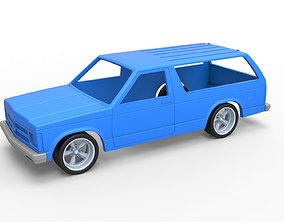 3D printable model Diecast shell and wheels Chevrolet 6