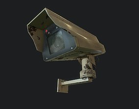 Security Camera 3D asset animated
