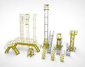 sci-fi stairs 4 3D model