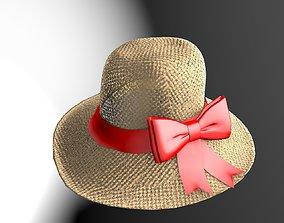 3D model Straw Beach Hat Package