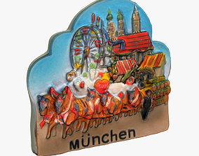 Munich Germany Magnet Souvenir 3D print model