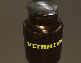 Vitamin supplements 3D model