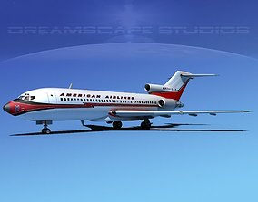 Boeing 727-100 American Airlines 2 3D