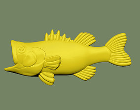 Bass Fish Solid 3D print model
