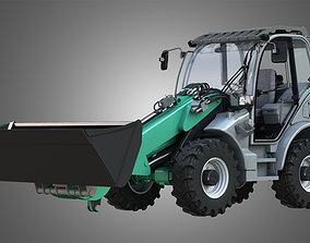 3D model Loader KL80-8T with Universal Bucket - Front 1