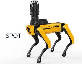 Boston Dynamics Spot Inspection Yellow 3D
