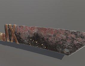 3D asset Orc Cleaver