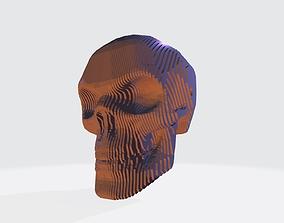skull 3D printable model 3D model